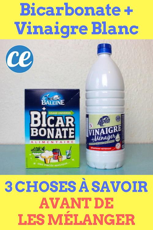 Les 3 choses à savoir avant de mélanger du bicarbonate et du vinaigre blanc.