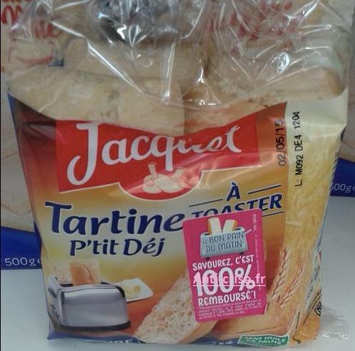 paquet de pain de mie Jacquet