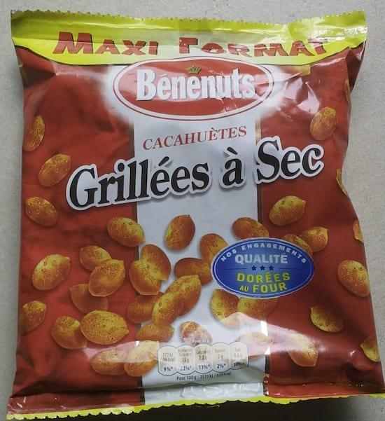 un paquet de cacahuète Benenuts