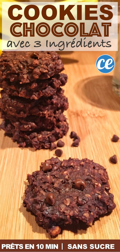 la recette des cookies facile et rapide avec 3 ingrédients
