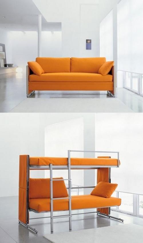 Canapé qui se transforme en lit superposé