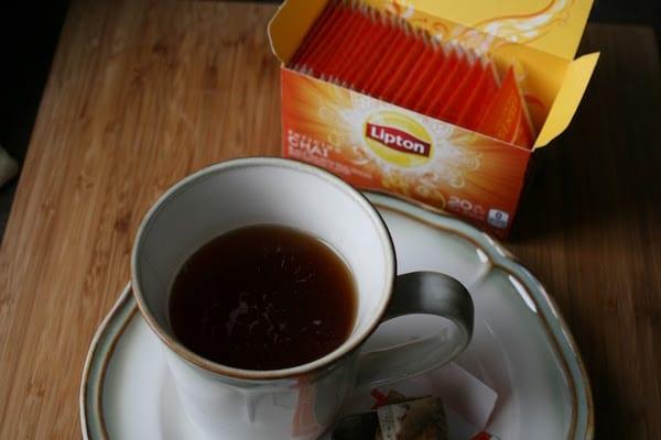 tasse de thé lipton