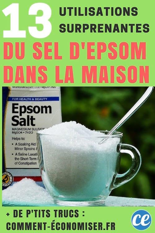 comment utiliser le sel epsom dans la maison et pour le bien-être