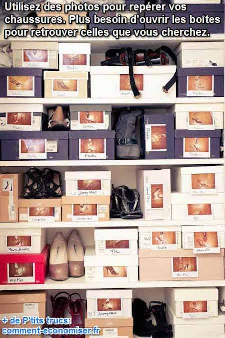 l 39 astuce ing nieuse pour celles qui ont beaucoup de chaussures ranger. Black Bedroom Furniture Sets. Home Design Ideas