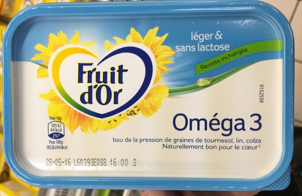 un paquet de margarine Fruit d'Or