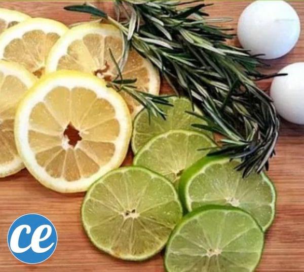 Du citron, du citron vert, du thym et des bougies flottantes.