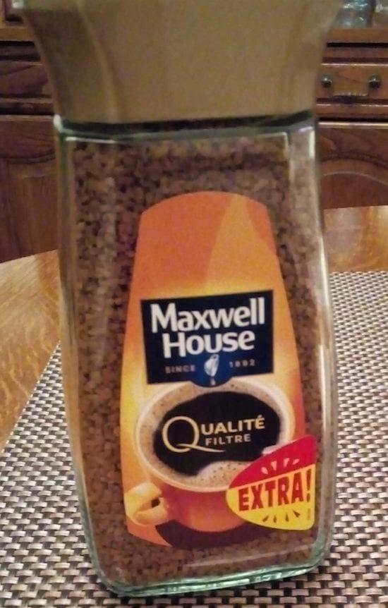 café maxwell qualité filtre