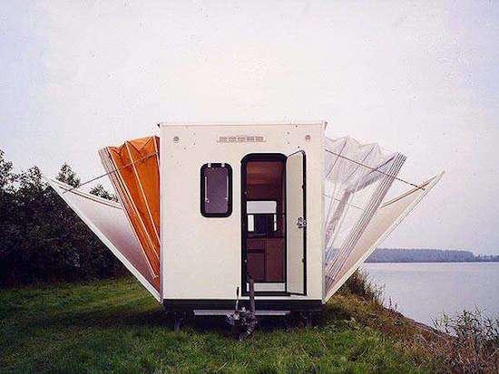 Caravane pliante de luxe