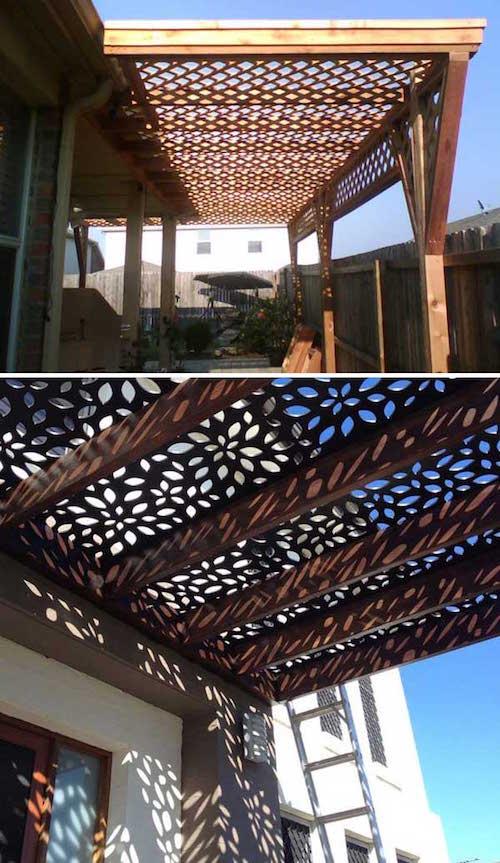 16 id es magnifiques pour faire de l 39 ombre sur votre terrasse facilement. Black Bedroom Furniture Sets. Home Design Ideas