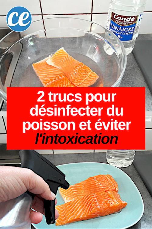 astuces de grand-mère pour éviter l'intoxication avec du poisson grâce au vinaigre blanc
