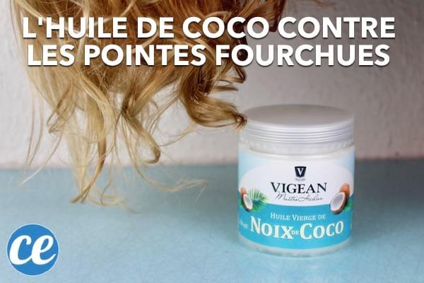 L'huile de coco est excellente pour empêcher les pointes fourchues des cheveux.