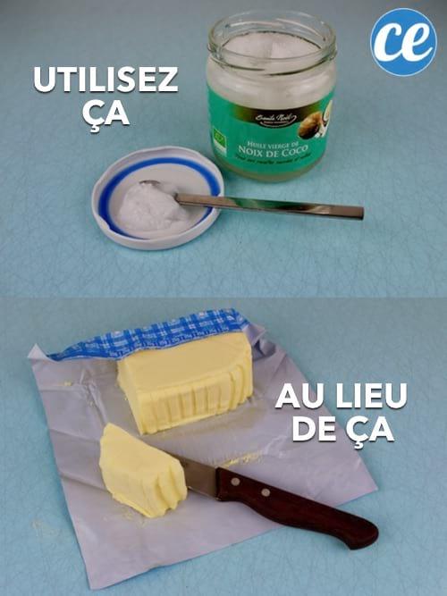 L'huile de coco remplace le beurre en cuisine.