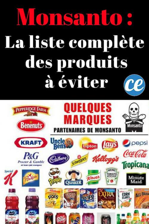 Les marques travaillant avec Monsanto à boycotter