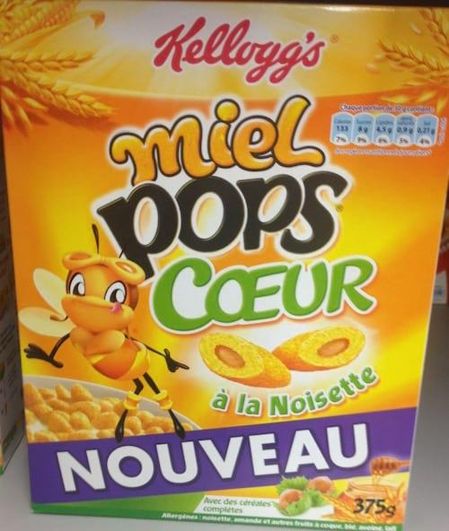 céréales Miel Pop's de Kellogs