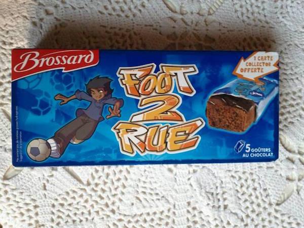 un paquet de gâteau Brossard foot de rue