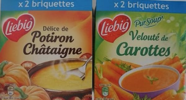 un paquet de soupe bio liebig