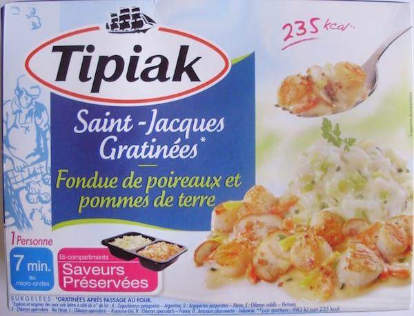 plat préparé Tipiak aux Saint Jacques