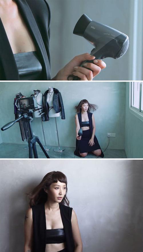 Utilisez un sèche-cheveux pour donner un effet à vos portraits