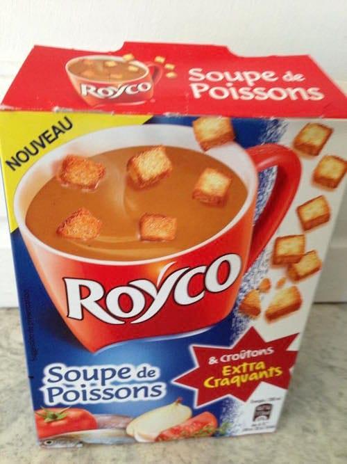 paquet de soupe Royco soupe de poissons
