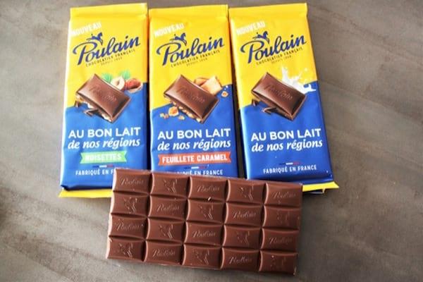 tablettes de chocolat poulain
