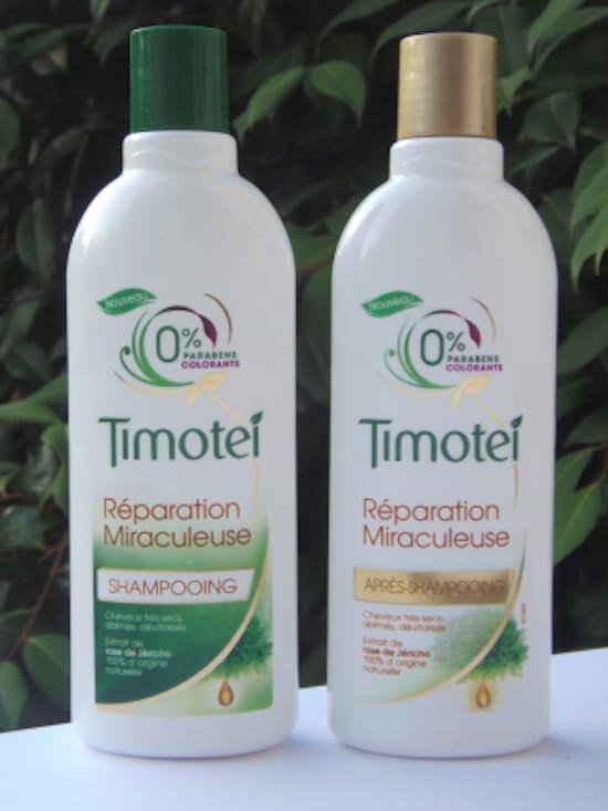 bouteilles de shampoing Timotei