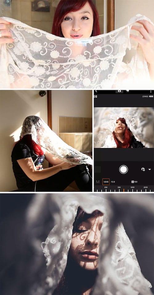 Utiliser de la dentelle pour faire des photos de portrait envoûtant