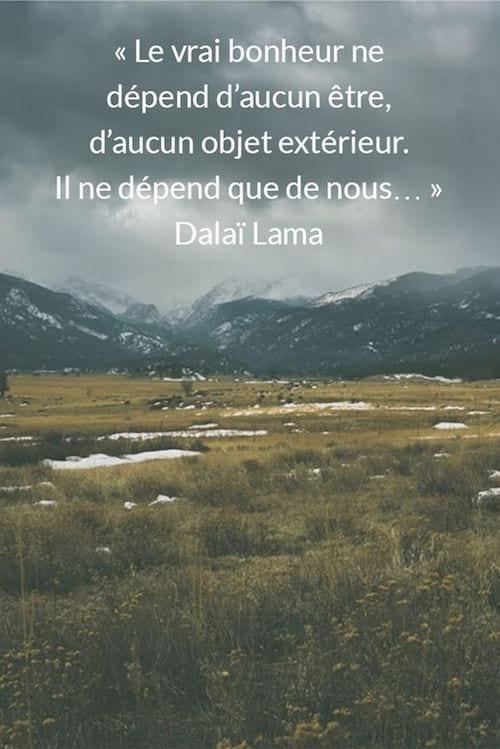 citation sur le bonheur du Dalaï Lama