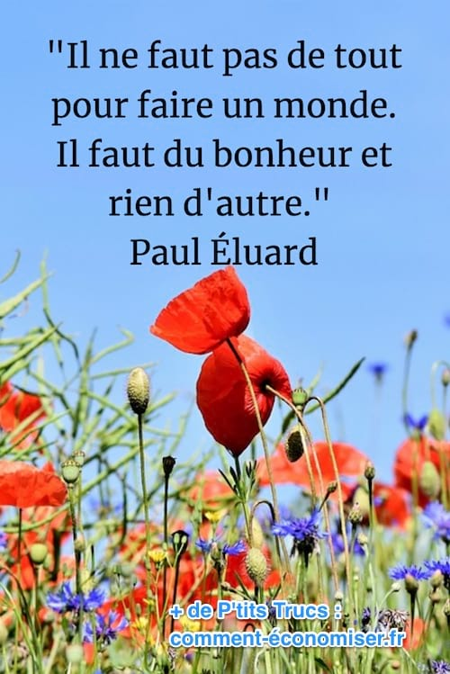 citation sur le bonheur de Paul Eluard