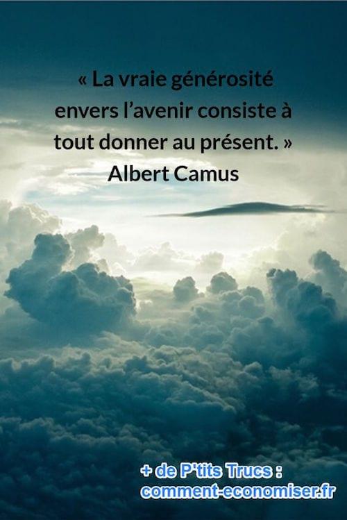 citation de Albert Camus sur la générosité