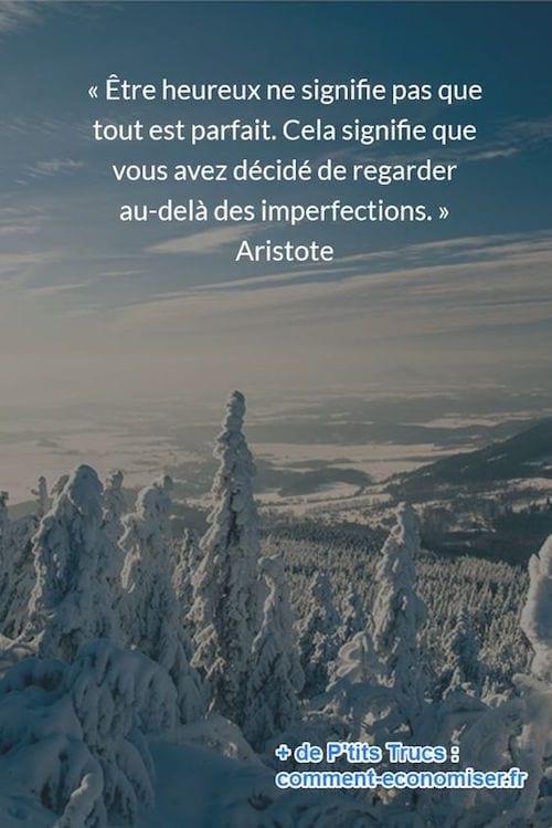 citation de Aristote sur le bonheur