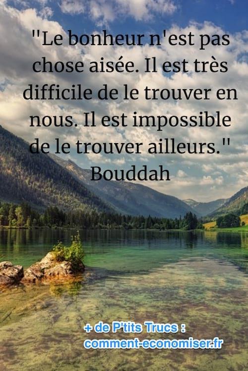 citation de bouddah sur la recherche du bonheur
