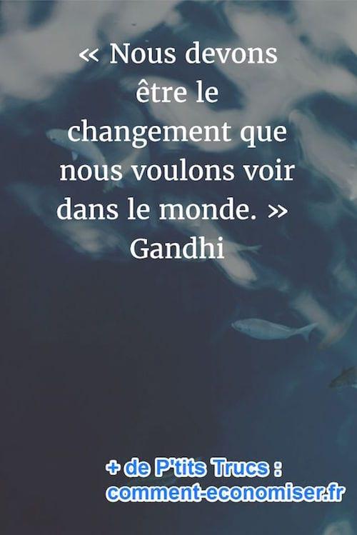 citation sur le changement de Gandhi