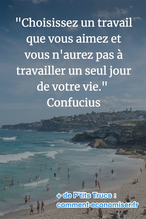 citation de confucius de travail