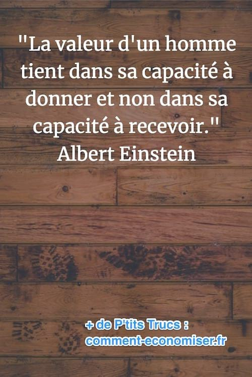 citation de Albert Einstein sur la valeur d'un homme