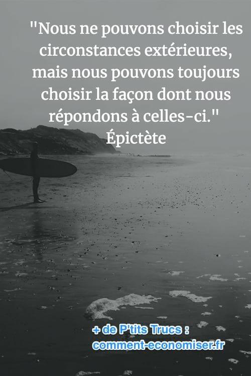 citation d'Epictère sur le destin et le choix