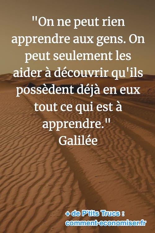 citation de Galilée sur la connaissance