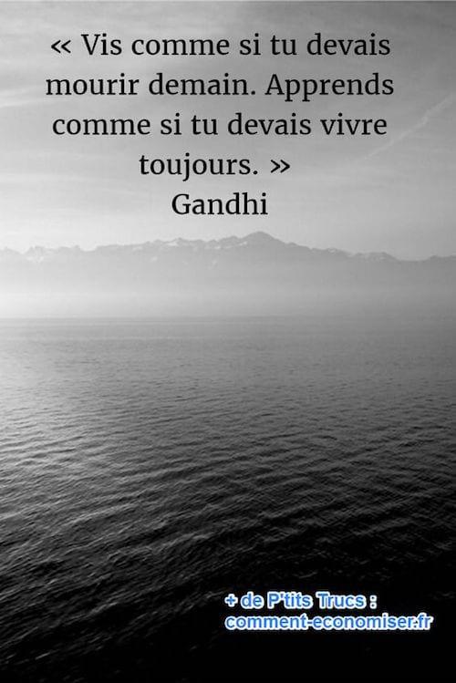 citation sur la vie de Gandhi