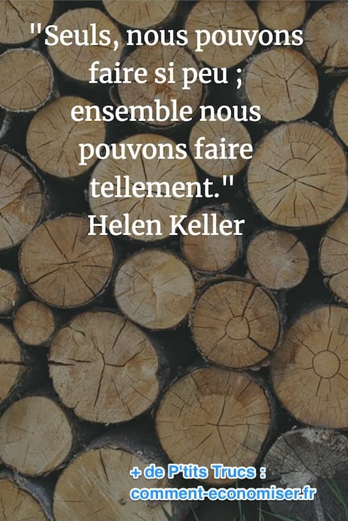 citation de Helen Keller ensemble