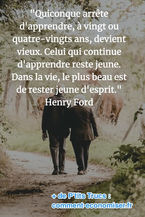 citation de henry ford sur l'apprentissage et la jeunesse