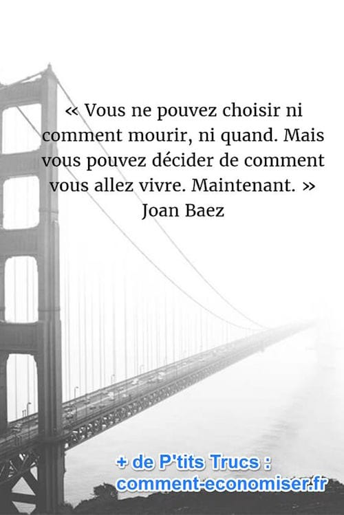 citation sur la vie de Joan Baez