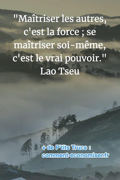citation sur la maîtrise de soi de lao tseu