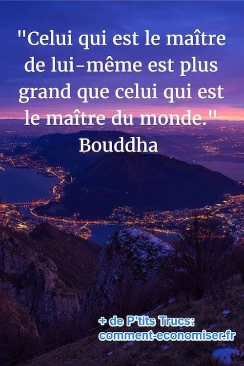citation de bouddha sur la maîtrise de soi