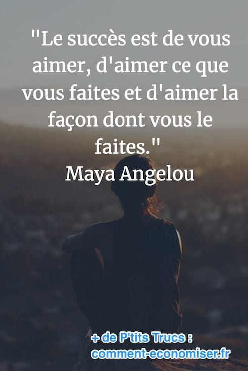 citation sur le succès de Maya Angelou