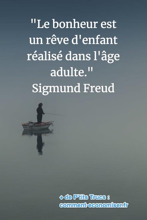 citation de Freud sur le bonheur