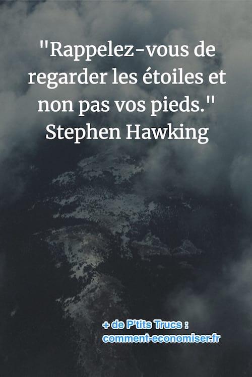 citation de Stephen Hawking sur les étoiles