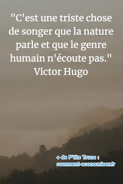 citation de Victor Hugo sur la nature