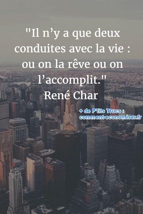 citation de René Char sur la vie