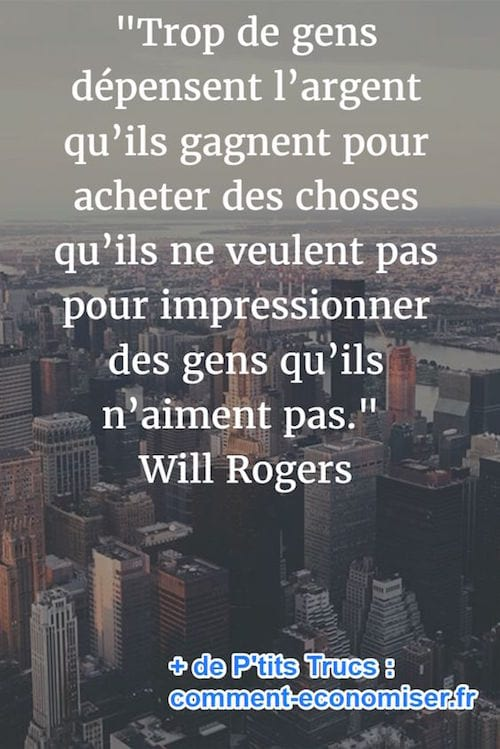citation sur l'argent de Will Rogers