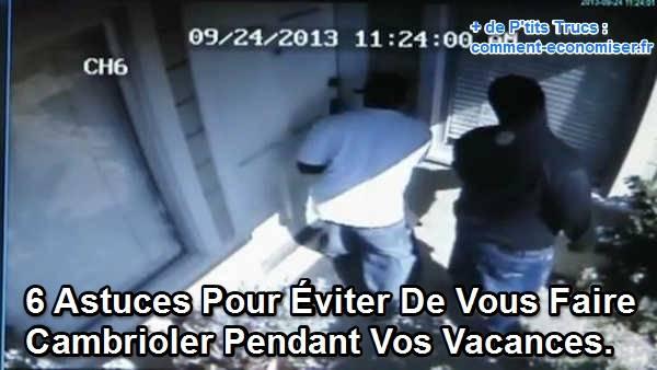 Voleurs en train de pénétrer une maison pour la cambrioler