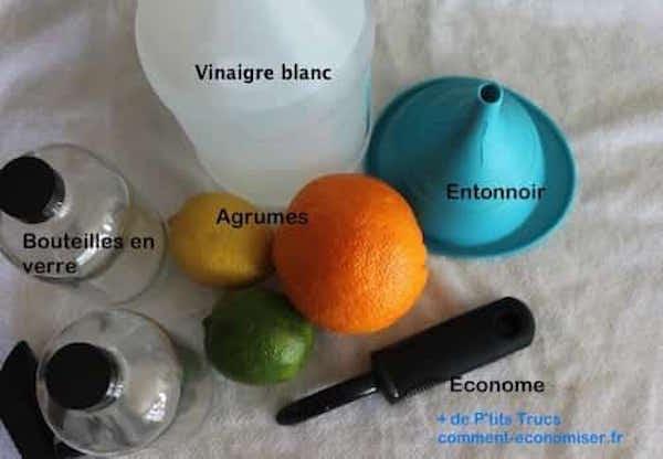 ingrédients pour faire vinaigre aromatisé parfumé